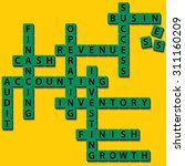 this crossword is present... | Shutterstock .eps vector #311160209