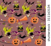 set of traditional halloween... | Shutterstock .eps vector #311163134