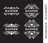 vintage ornate frame banner... | Shutterstock .eps vector #311164607