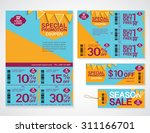 sale flyer  promotions coupon... | Shutterstock .eps vector #311166701