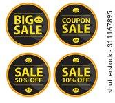 halloween coupon vector... | Shutterstock .eps vector #311167895
