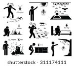 infestation of pests... | Shutterstock .eps vector #311174111