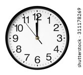 wall clock isolated on white... | Shutterstock . vector #311178269