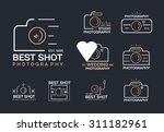 set of vintage and retro camera ... | Shutterstock .eps vector #311182961
