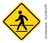 man walk   road sign | Shutterstock .eps vector #311184239
