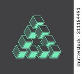 geometric optical illusion ...   Shutterstock .eps vector #311184491