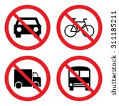 prohibition sign set for car  ... | Shutterstock .eps vector #311185211