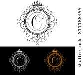 letter o. luxury logo template...   Shutterstock . vector #311188499