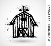 barn grunge house icon or sign... | Shutterstock .eps vector #311190227