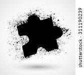 grunge icon set with image of...
