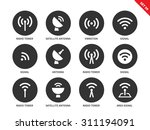 radio tower vector icons set.... | Shutterstock .eps vector #311194091