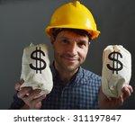 builder and money    Shutterstock . vector #311197847