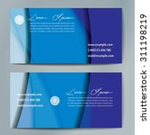 stylish business cards with... | Shutterstock .eps vector #311198219