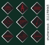 set of vector red icons of... | Shutterstock .eps vector #311198465