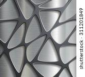 metallic geometric pattern.... | Shutterstock .eps vector #311201849
