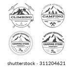 set of monochrome outdoor... | Shutterstock . vector #311204621