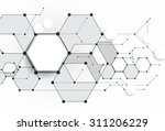 vector abstract molecules with... | Shutterstock .eps vector #311206229