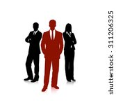 drawing group of business people