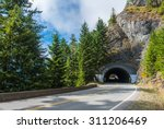 road tunnel   mountain tunnel... | Shutterstock . vector #311206469