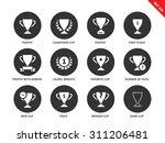 trophy vector icons set. prises ... | Shutterstock .eps vector #311206481