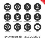 time vector icons set. icons... | Shutterstock .eps vector #311206571
