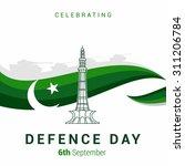 vector 6 september defence day... | Shutterstock .eps vector #311206784