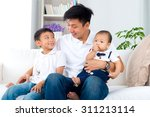 happy asian family | Shutterstock . vector #311213114
