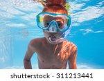 underwater kid in swimming pool ... | Shutterstock . vector #311213441