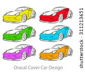 car stickers some color... | Shutterstock .eps vector #311213651
