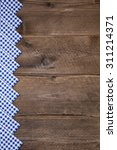 old wooden background with blue ... | Shutterstock . vector #311214371