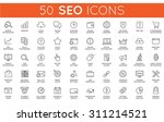 set of vector seo search engine ... | Shutterstock .eps vector #311214521