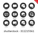 talking bubble vector icons set.... | Shutterstock .eps vector #311215361