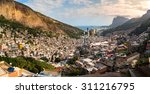 panoramic view of rio's rocinha ... | Shutterstock . vector #311216795