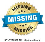 missing 3d gold badge with blue ... | Shutterstock .eps vector #311223179