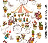 seamless pattern with flower...   Shutterstock .eps vector #311227235