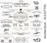 set of vintage decorations... | Shutterstock .eps vector #311227754