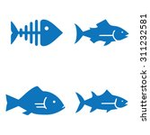 fish icons | Shutterstock .eps vector #311232581