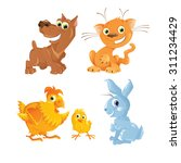 Vector Cute Animals. Cartoon...