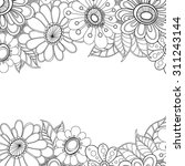 Zentangle Doodle Floral...
