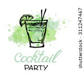 cocktail party invitation... | Shutterstock .eps vector #311247467
