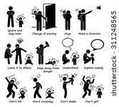 how to handle baby kid child... | Shutterstock .eps vector #311248565