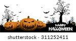 halloween background with ghost ... | Shutterstock .eps vector #311252411