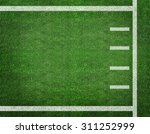 american football with yard...   Shutterstock . vector #311252999