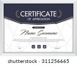 certificate template with...   Shutterstock .eps vector #311256665