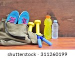 sports bag with sports...   Shutterstock . vector #311260199