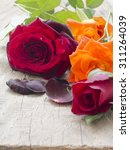 beautiful roses on the table | Shutterstock . vector #311264039