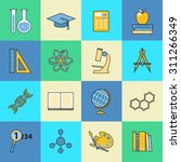 set of education and learning... | Shutterstock .eps vector #311266349