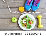 sport and healthy food for diet ...   Shutterstock . vector #311269241