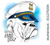Portrait Of A Bulldog In Sailor'...