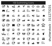 100 swimming  pool and diving... | Shutterstock .eps vector #311273231
